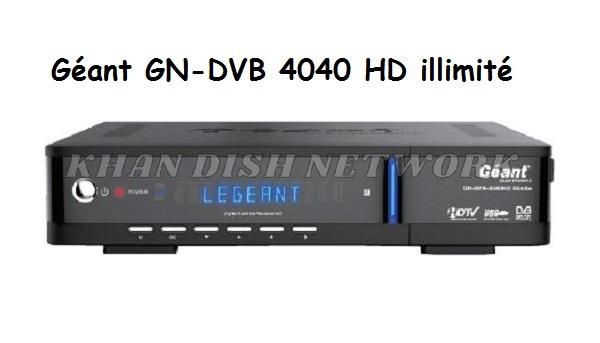 Géant GN-DVB 4040 HD illimité