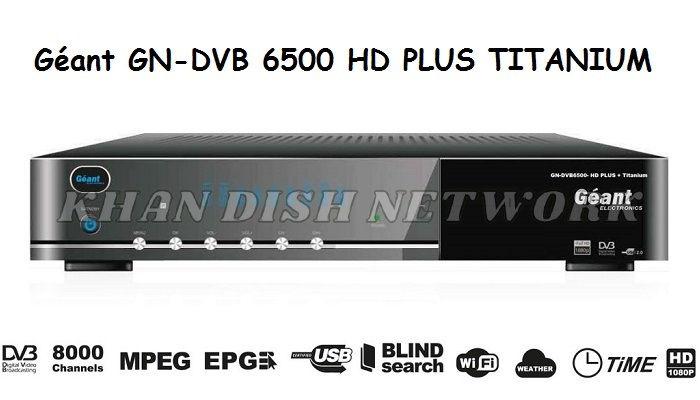 Géant GN-DVB 6500 HD PLUS TITANIUM