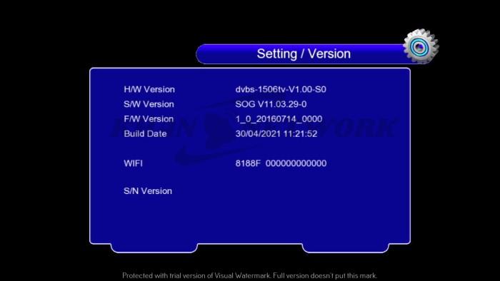 Super Gold SG-6666 1506tv Software