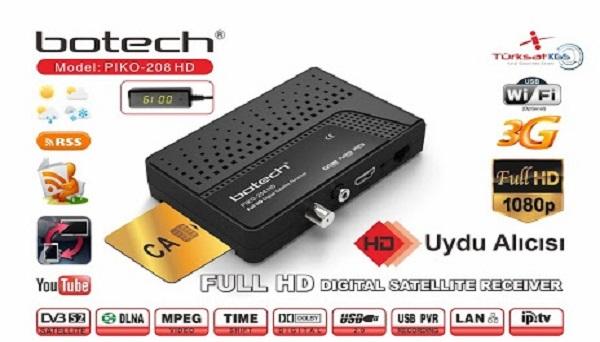 Botech FreeBox 208 HD Yazılım