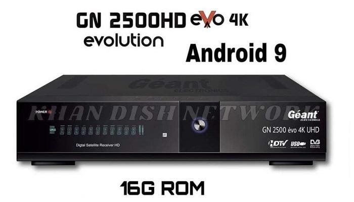 Géant GN-2500 EVO 4K UHD SOFTWARE