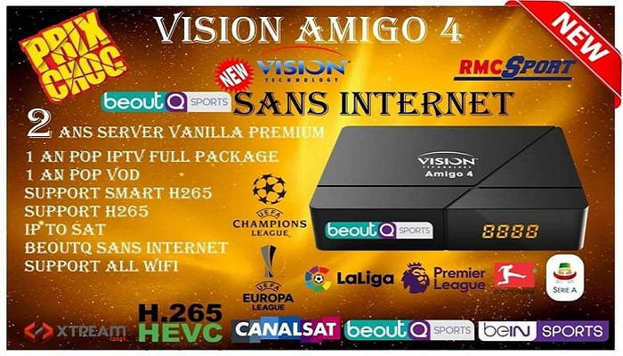 VISION AMIGO 4 SOFTWARE UPDATE   SPECIFICATIONS